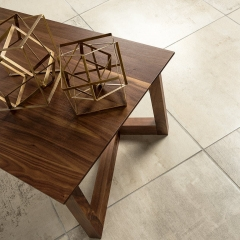 Solid wood coffee table made in Canada by Montreal-based Verbois